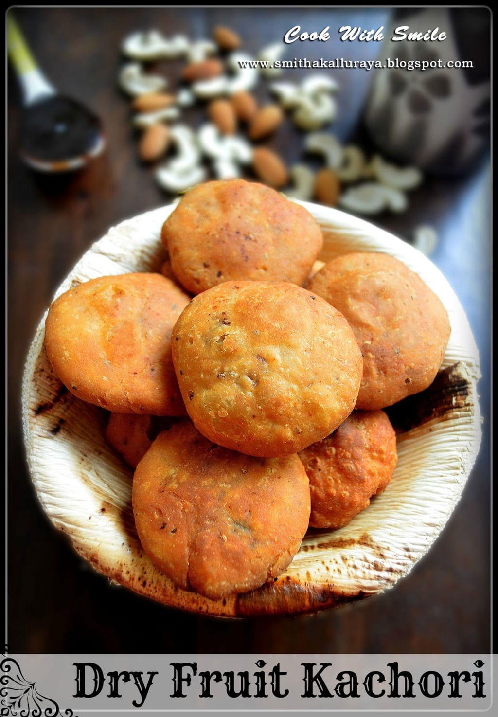 DRY FRUIT KACHORI recipe