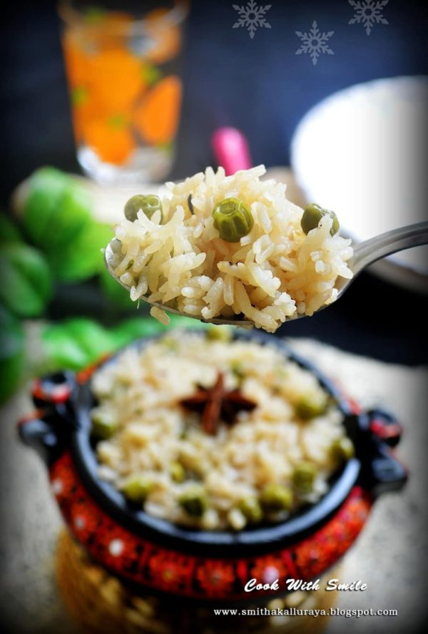 peas pulav recipe