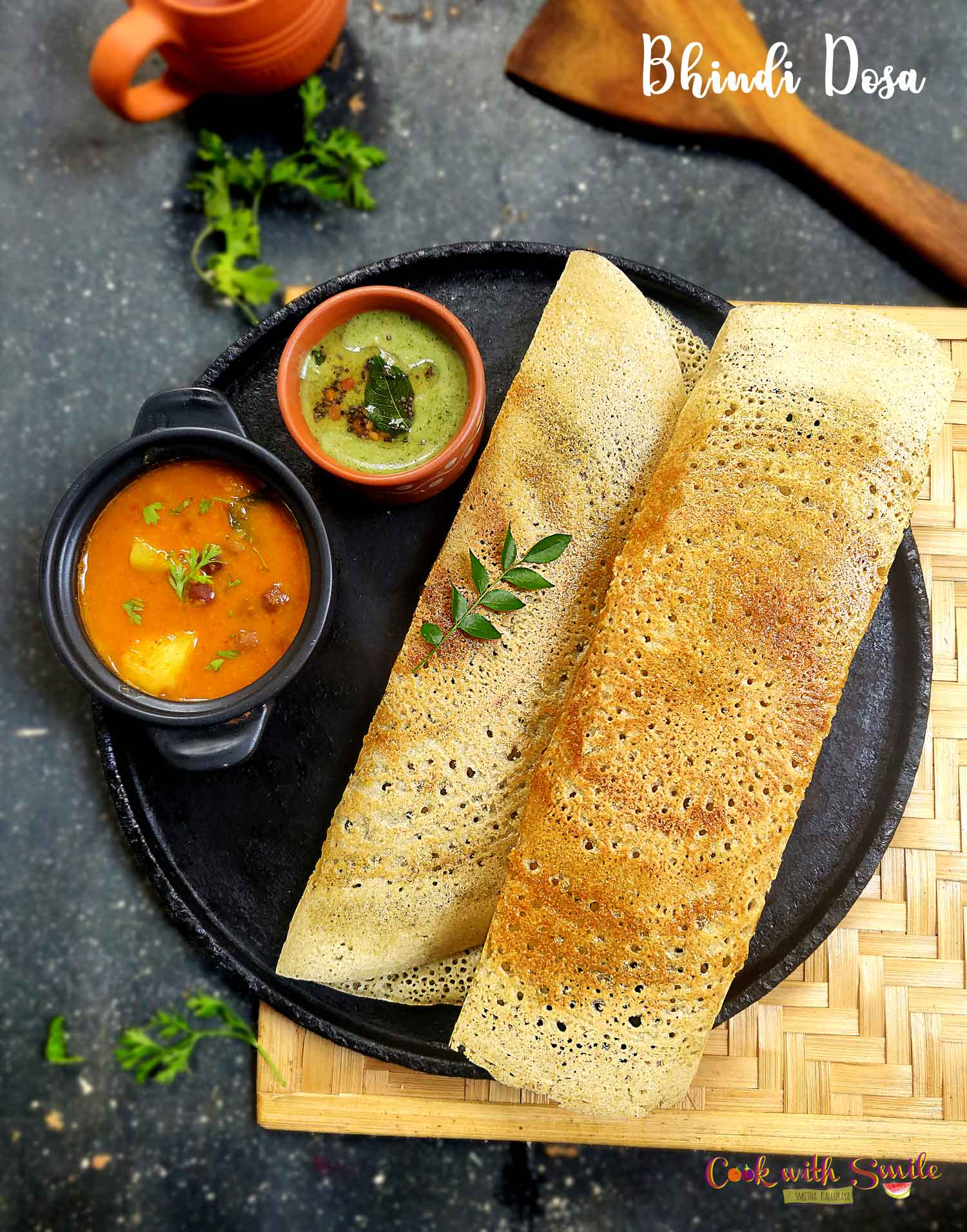 Lady's Finger dosa
