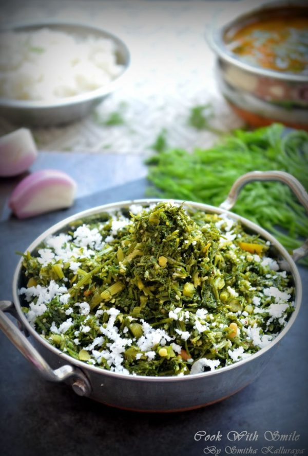 dill leaves stir fry