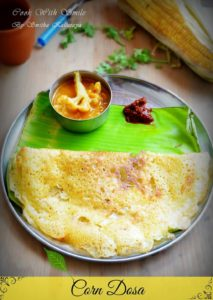 sweet corn dosa