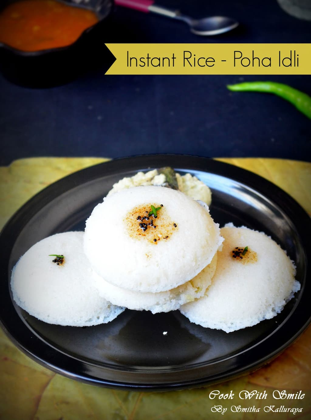 INSTANT RICE IDLI recipe