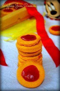 Eggless thumbprint cookies