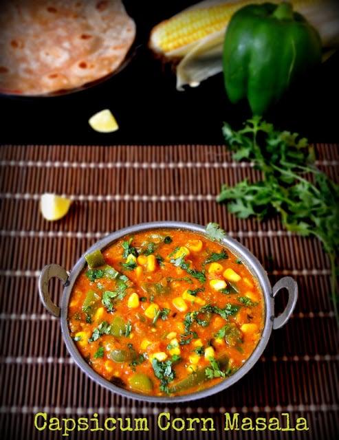 corn capsicum curry