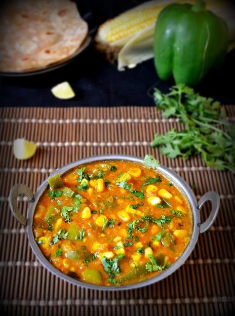 corn capsicum masala restaurant style