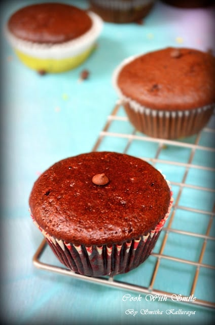 eggless chocolate cup muffin