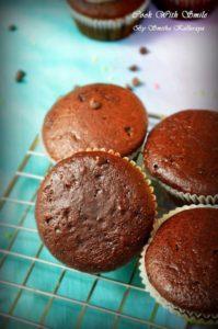 soft eggless chocolate muffin