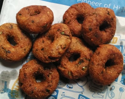 quick recipe for medu vada