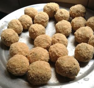 how to do cheese corn balls