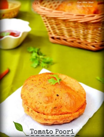 easy recipe for tomato poori