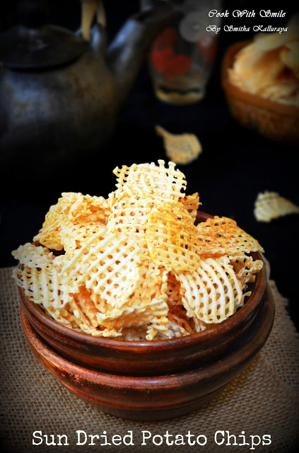 Sun dried aloo chips