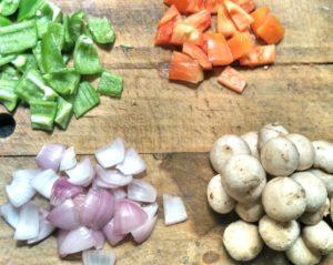 ingredients for mushroom tikka