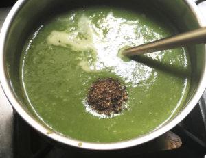 make palak soup