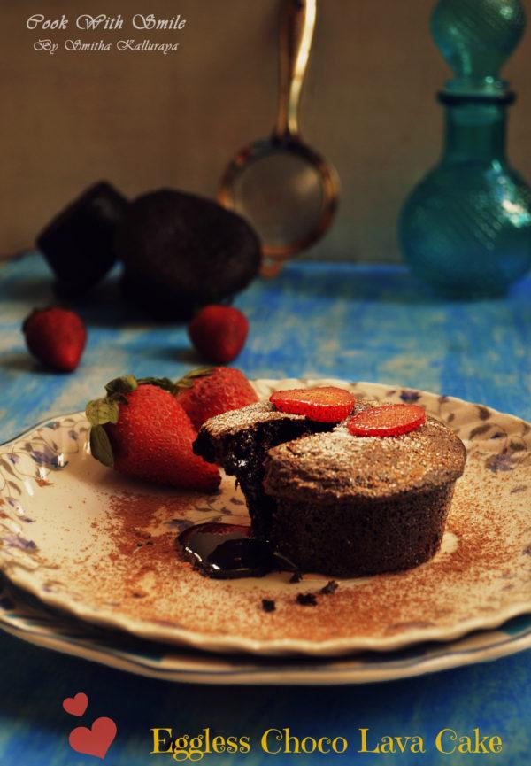 Eggless Choco Lava Cake