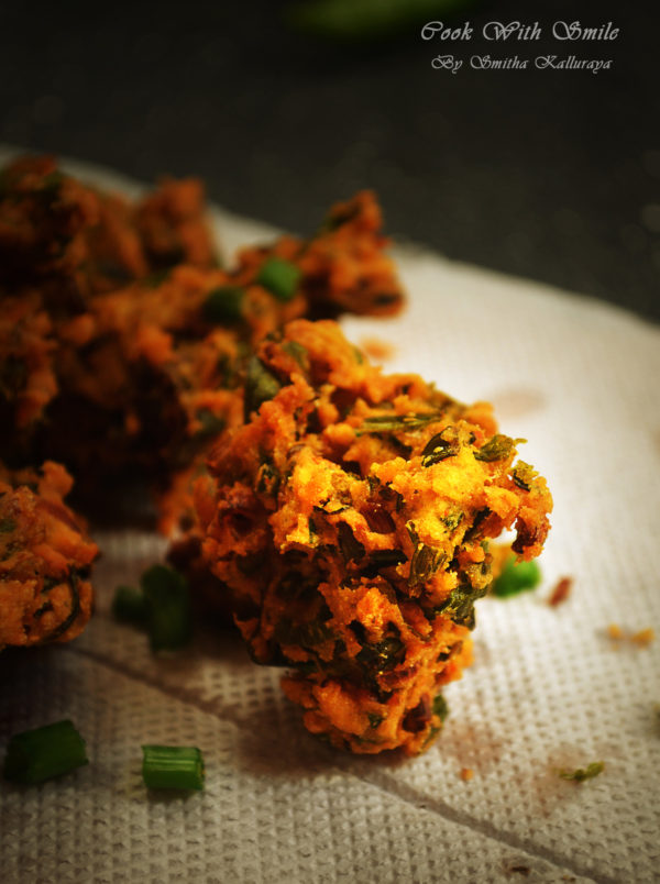Spring onion pakoda recipe