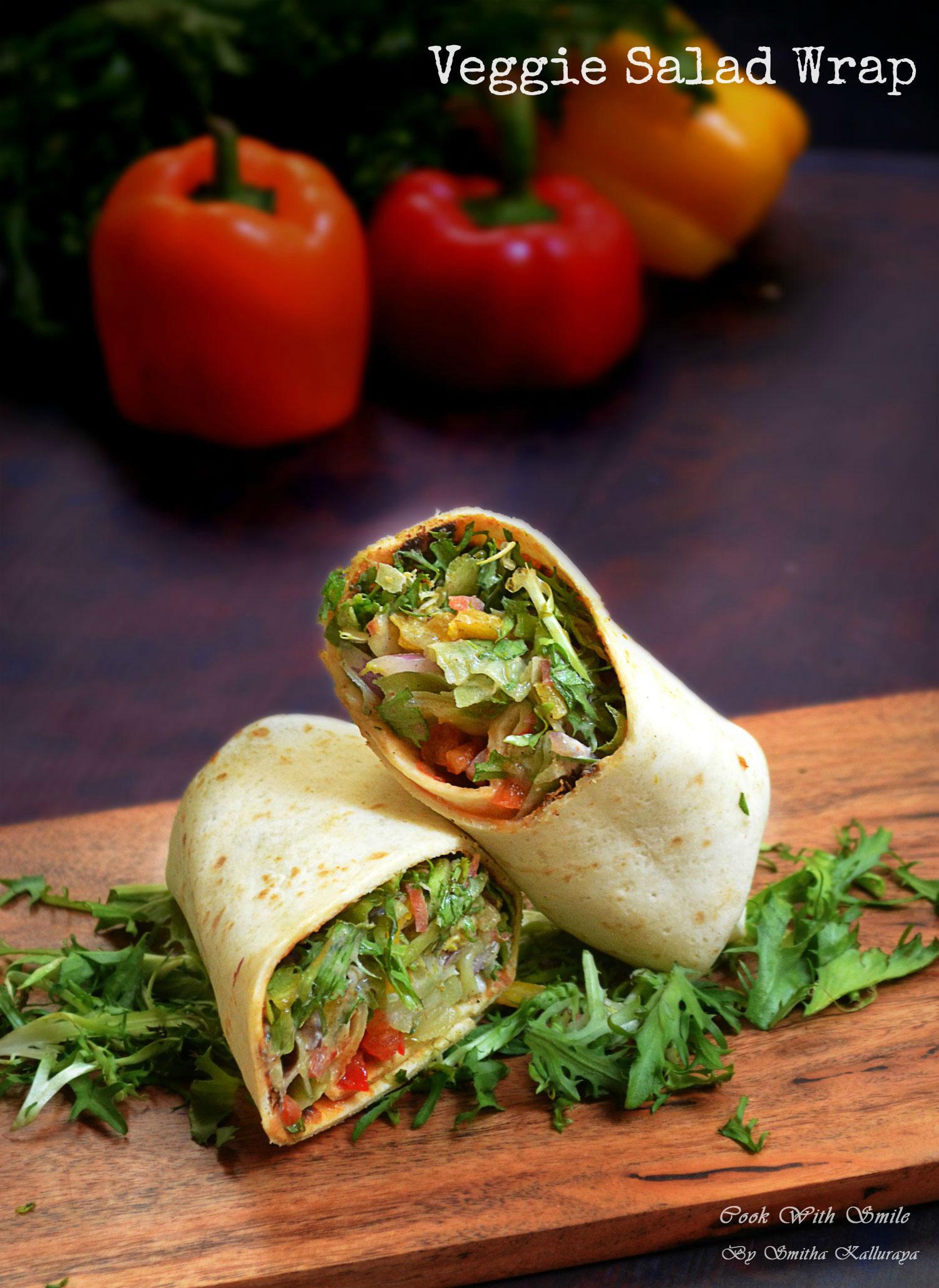 Veg salad wrap recipe