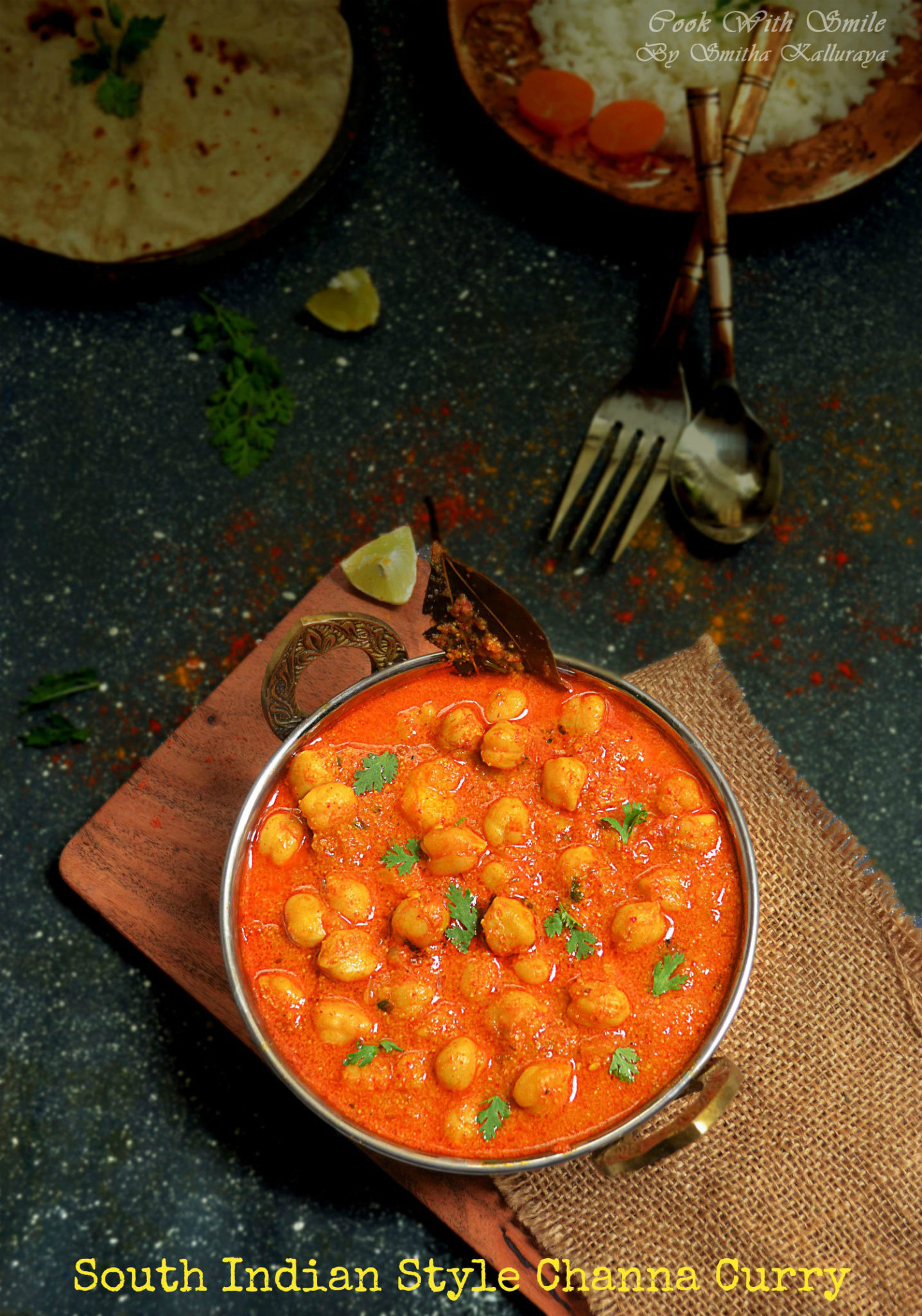 South indian style channa masala