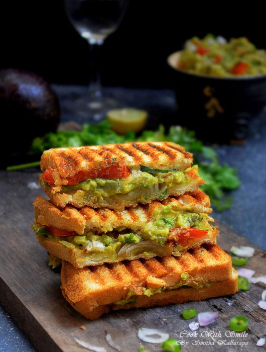 Indian vegetarian Avocado sandwich