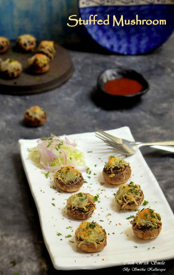 STUFFED MUSHROOM INDIAN STYLE