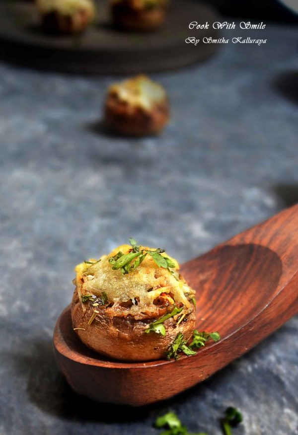 Stuffed Mushroom recipe indian style