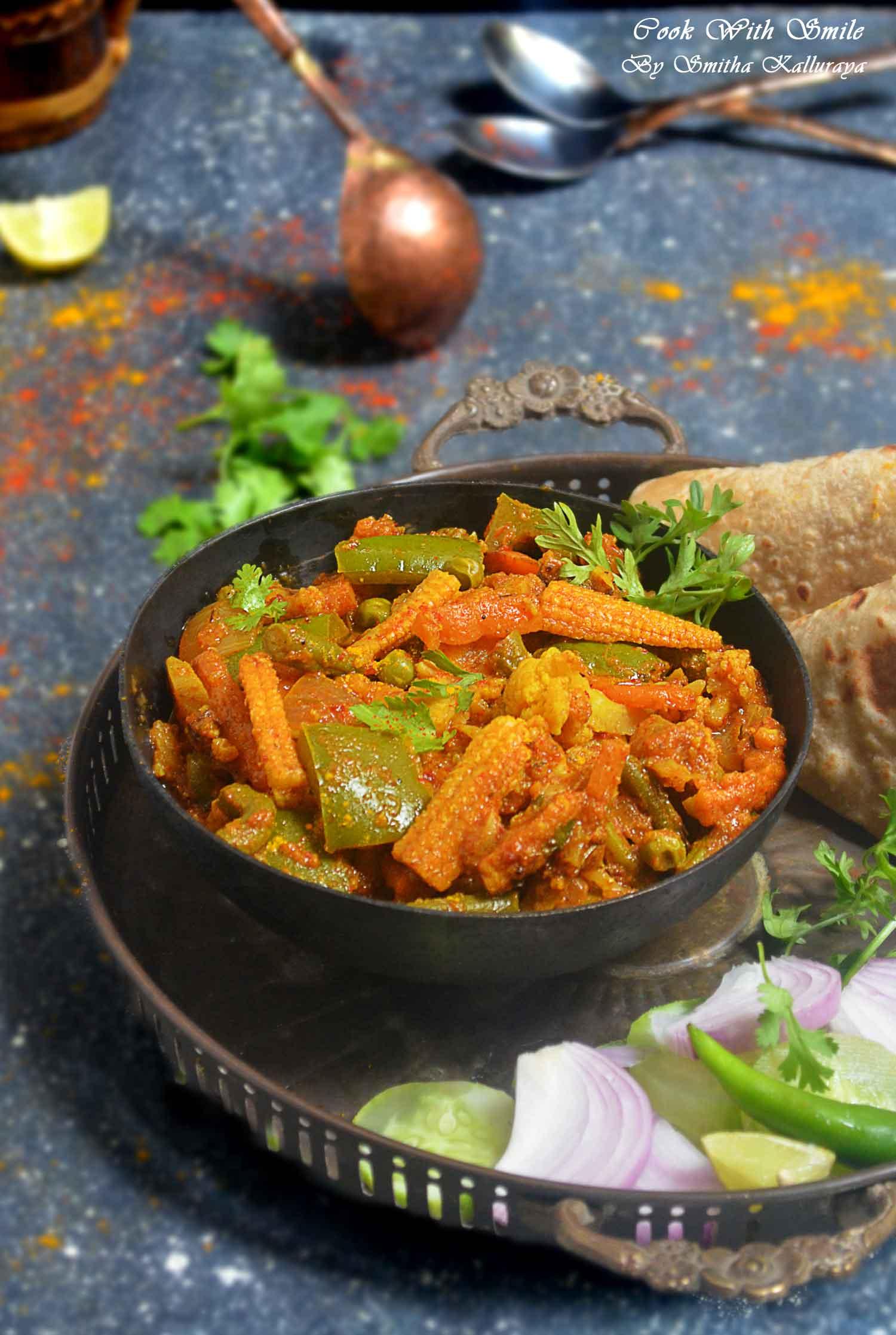 Kadai Vegetable Gravy recipe