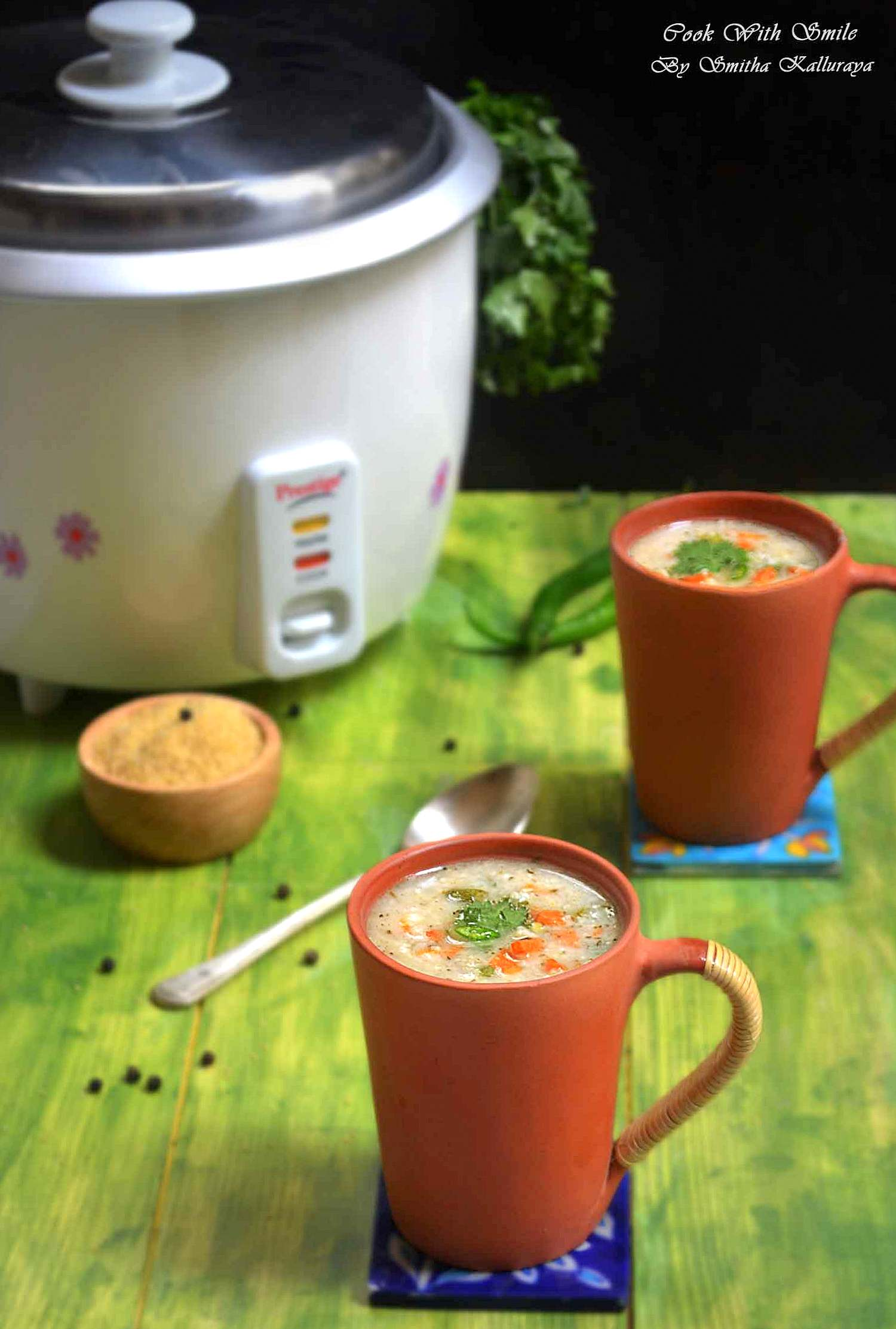 Indian millet veg soup
