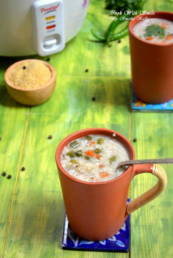 Indian millet veg soup