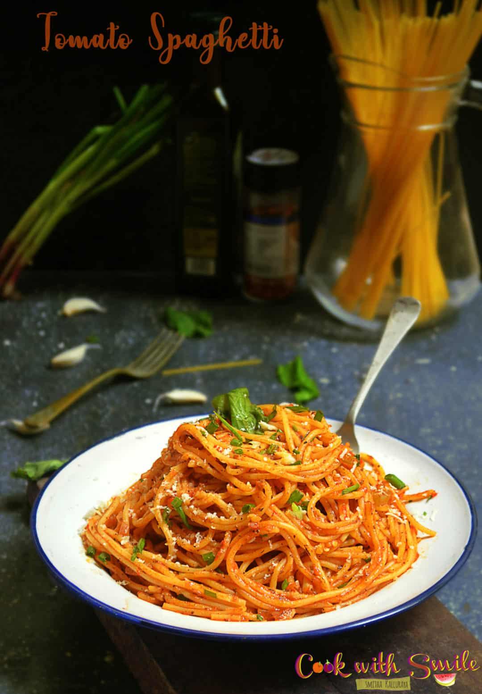 indian style tomato spaghetti recipe