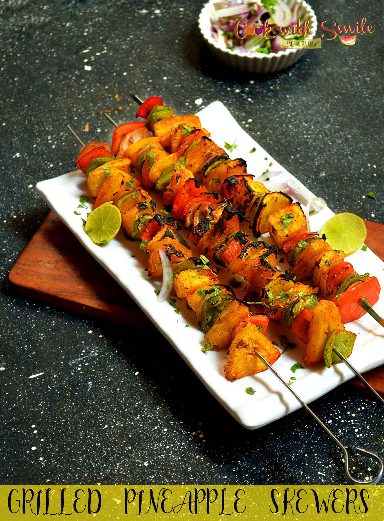 grilled pineapple skewers