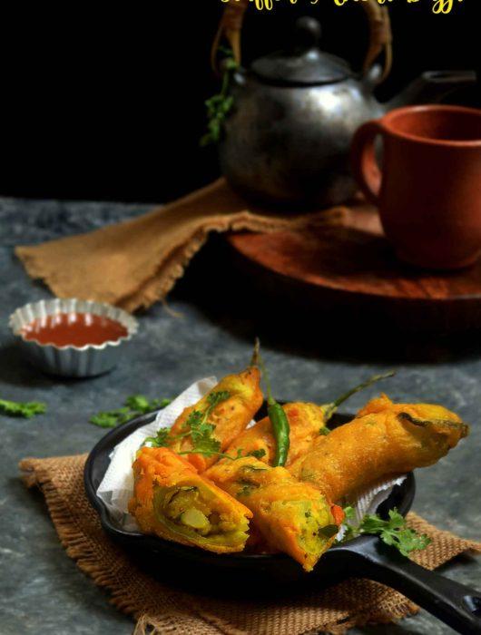Stuffed mirchi bajji recipe