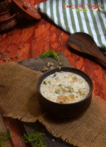 banana stem raita