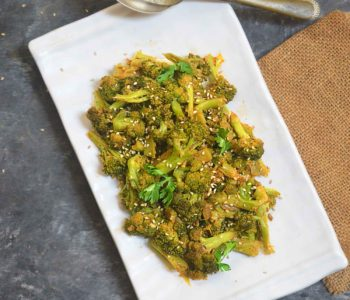 indian style broccoli stir fry