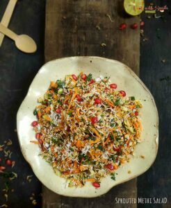 SPROUTED METHI SEEDS SALAD