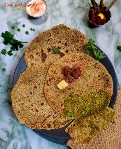 matar paratha recipe