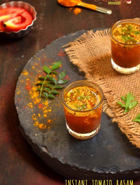 no dal no rasam powder tomato rasam