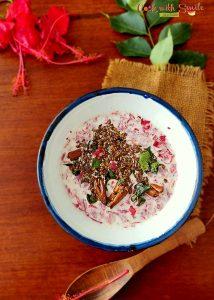 """"""" Hibiscus Tambuli / Dasavala Thambli """" a healthy, tasty and easy coastal Karnataka dish which is relished with rice."""