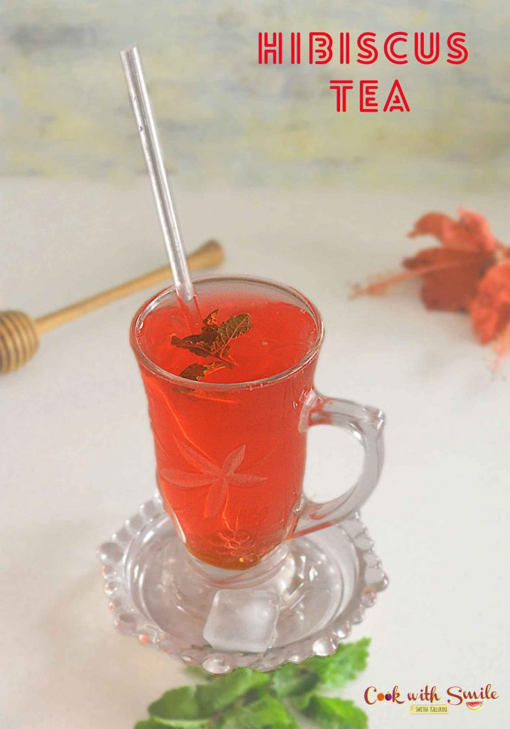 hibiscus tea or hibiscus drink is a super healthy and very refreshing drink made using fresh hibiscus flower or dried ones .