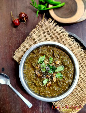 malabar spinach chutney