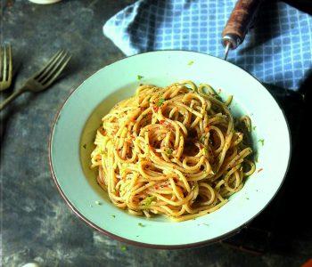 spaghetti aglio olio recipe