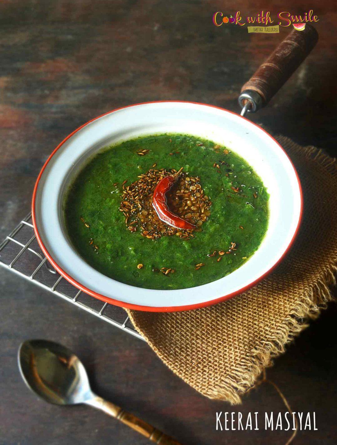 KEERAI masiyal recipe
